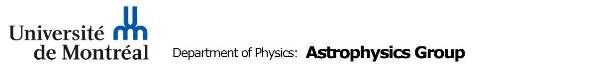 Groupe d\'astrophysique de l\'Université de Montréal